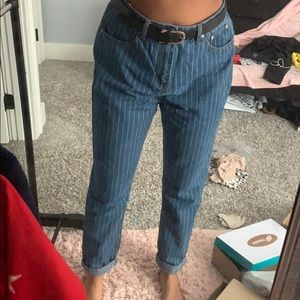 Nasty Gal Striped Mom Jeans